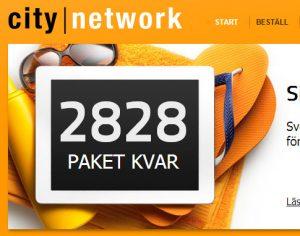 city-network-antal-paket-kvar-på-erbjudande