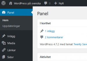 WordPress svenska CMS